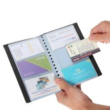 Business Card Holder Book Name ID Card Organizer Book Case Keeper 120 Cards New