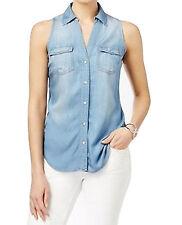 INC Int. Concepts New Sleeveless Button-Down Shirt Sz 16 MSRP $99.50 #RGB 1 (16)