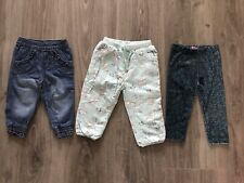 3 X Pairs Of Baby Girl Trousers & Leggings - 9-12 Months - John Lewis, BHS & F&F