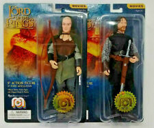 Lord of the Rings LOTR 8in Action Figures MEGO ~ Aragon & Legolas Set