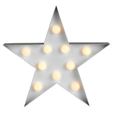 Modern Battery Operated Novelty Star Marquee Light 10 Warm White LED Lights Lamp