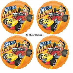 """4x 18"""" Mickey and the Roadster Racer Foil Mylar Balloon Party Decoration"""