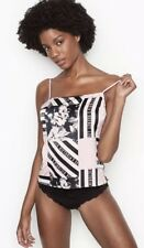 NWT Victoria's Secret Satin Cami Top Heritage Patchwork NEW Pink Stripes Size M