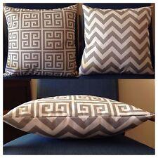 45x45cm Indoor/Outdoor Premier Prints Grey/White Chevron/Geometric Cushion Cover