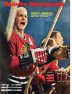 1968 2/12 Sports Illustrated,Magazine,Hockey,Bobby Hull,Chicago Blackhawks VG LR