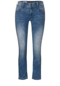 Street One Damen Jeans Denim Fit Hose Jane mittel blau A373050-12394 NEU