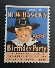 1938 Poster Stamp, New Haven's 300th Anniversary, Yale Field