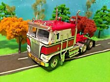 DCP 1/64 Red Black White Kenworth K-100 Cabover Semi Truck Farm Toy, CB Antenna