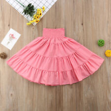 Baby Toddler Girls Kids Long Maxi Skirt Princess Party Casual Pleated Tutu Dress