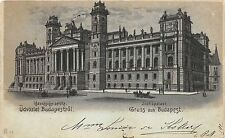 B2577 Hungary Budapest Justice Palace LithoChromo PPC front/back scan