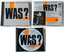 WOLF MAAHN - Was?.. 1989 EMI CD mit allen Texten