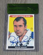 ROYCE GRACIE AUTO'D SIGNED 2010 SPORT KINGS CARD #161 BAS COA UFC PRIDE FC