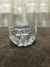 Vintage Baccarat Crystal Glass Art Diamond Cut 2 Slot Cigar Ashtray France