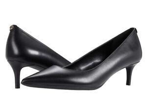 Women MK Michael Kors Sara Flex Kitten Pump Leather Upper Black