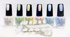 Opi Nail Polish Soft Shades Pastel T71 to T76 ~ 6 Bottles + Color Palette