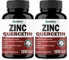 Zinc with Quercetin 120 Capsules - Best Quercetin Zinc Vitamin Supplement