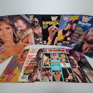 1980s WWF Magazine Lot Of 10 Macho Man Elizabeth Ultimate Warrior Hulk Hogan