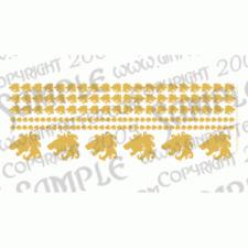 Ginfritter's Gnomish Workshop WARLION004 Lion Head Decal in Gold + Warhammer