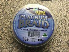 Platypus Platinum Braid  30LB FISHING LINE 300YD GREY - rods-reels-4x4 MF 333603