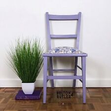 Petite Pale Purple and Paisley Bedroom Chair