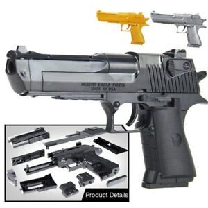 DIY Building Blocks Toy Desert Eagle Airsoft Air Assembly Puzzle Toy Military
