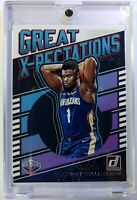 2019-20 Panini Donruss Great X-Pectations Zion Williamson Rookie RC #7, Pelicans