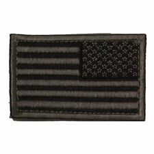 Grey USA Stars and Stripes Self Adhesive Tactical Flag Patch 2x3in Reversed