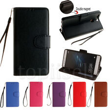 Flip PU Leather Wallet Card Lot Stand Case Cover Protection Silicone Bumper HF1