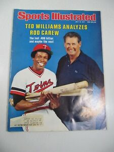 Sports Illustrated Magazine- July 18, 1977 Ted Williams Analyzes Rod Carew