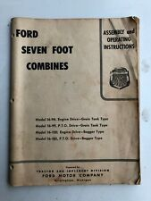 Ford Seven Foot Combines Operating Instructions Manual