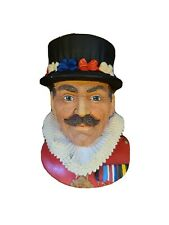 Vtg 1982 Legend Products The Beefeater Chalkware Head Wall Hanger Plaque