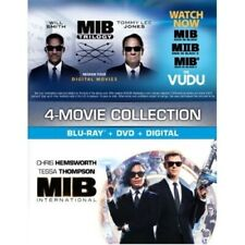Men In Black International Blu-Ray+Dvd+Digital Code + Mib Trilogy Digital New