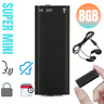 """Mini Spy Audio Voice Activated Recorder  Listening """"Bugging"""" Device 96 Hours 8GB"""