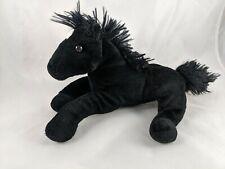 "Fiesta Black Laydown Horse Plush 9"" Stuffed Animal toy"