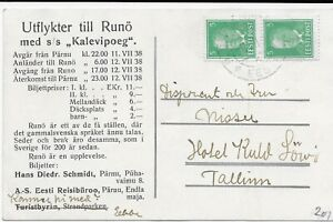 ESTONIA. PC with advertising about excursion to old Sweden as 200 years ago