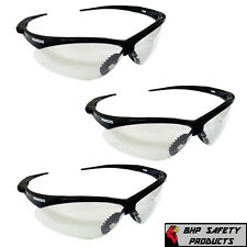 JACKSON NEMESIS SAFETY GLASSES BLACK FRAME CLEAR LENS 25676 GUN RANGE (3 PAIR)