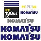 Komatsu PC138US PC138US LC New Repro Excavator decals Stickers Kit