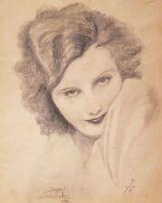 Greta Garbo, Bleistiftzeichnung von Josef Howanetz, 1928