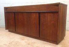 Mid Century Vladimir Kagan style Winged Top Walnut Credenza Buffet Sideboard