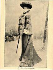 Kurzer Pelzmantel mit Hermelinbesatz * Text / Bilddokument von 1903