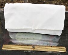 Ritva Westenius Taffeta Bridal Ivory Clutch Bag