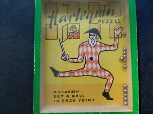 Vintage 1940s The Harlequin Puzzle Game, By R, Journet London