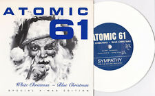 """ATOMIC 61-White Christmas-Blue Christmas 7"""" WHITE Wax dickless 7 Year Bitch"""