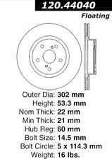 Disc Brake Rotor-High Performance Slotted Centric fits 86-92 Toyota Supra