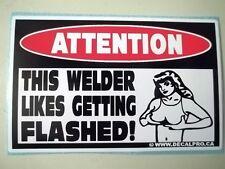 FUNNY WELDER WELDING MIG TIG WIRE HELMET ELECTRODE STICKER DECAL WELD FLASH 204