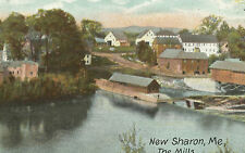 New Sharon Maine ME Mills Vintage Postcard
