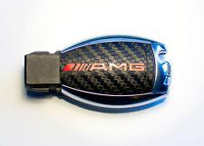 MERCEDES W164 ML AMG SL 500 R230 W211 W212 W207 autocollant clé carbone avec amg rouge