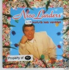 (355P) Nico Landers, Hurt/ Ik Heb Verdriet - 1996 CD