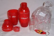 Barware Lot GRAND MARNIER 2 Light Up Shakers, 10 Shot Topper Glasses, 1 Keychain