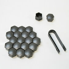 20x 17mm Graphite Car Wheel Nut Bolt Covers Caps Fits Renault Clio Megane Scenic